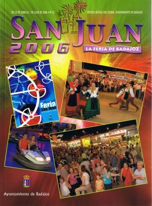 San Juan 2006. La feria de Badajoz. Revista oficial del ayuntamiento