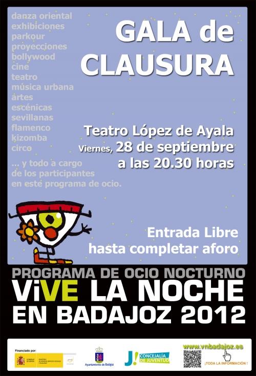 CLAUSURA PROGRAMA �VIVE LA NOCHE EN BADAJOZ 2012�.