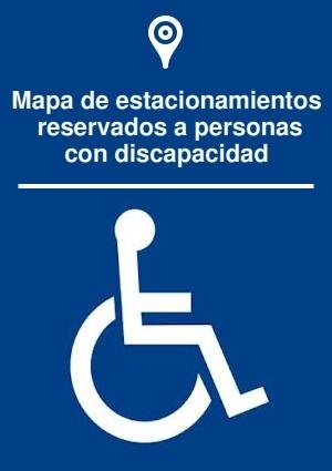 Mapa de estacionamientos reservados a personas con discapacidad