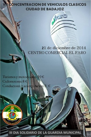 VII Concentración de Vehículos Clásicos Ciudad de Badajoz