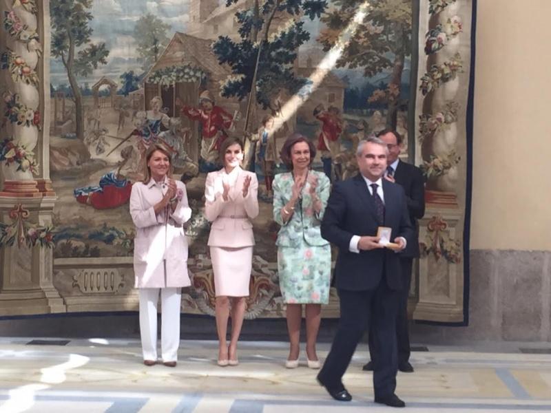 El Alcalde de Badajoz recoge el Premio Reina Sof�a   2014 de Accesibilidad