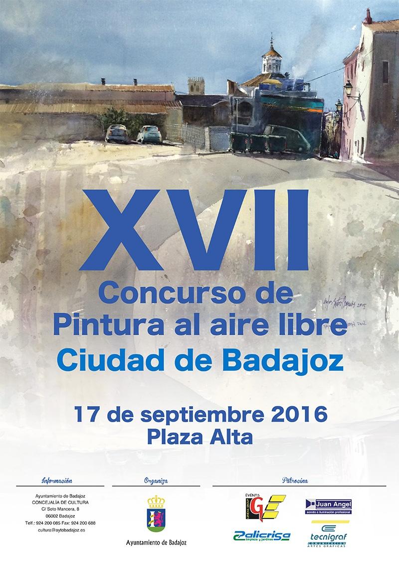 XVII Concurso de Pintura al aire libre Ciudad de Badajoz - 17 de Septiembre de 2016