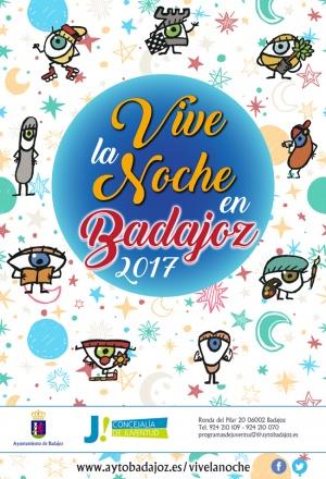 Programa Vive la noche en Badajoz 2017.