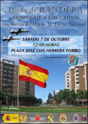 Acto de Izado de Bandera y Homenaje a los Caídos con motivo del Día de la Fiesta Nacional