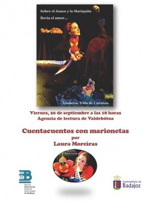 Cuentacuentos con marionetas en la Agencia de lectura de Valdebótoa