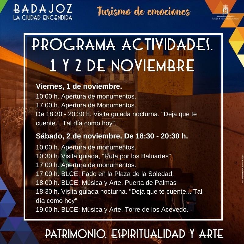 Programa de actividades 1-2 noviembre