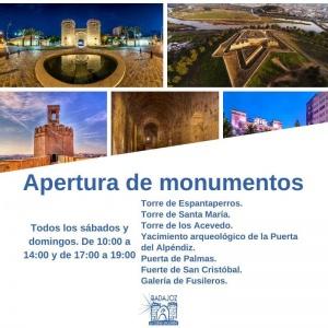 Apertura de monumentos en Noviembre
