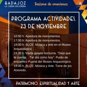 actividades BLCE sábado 23 de noviembre