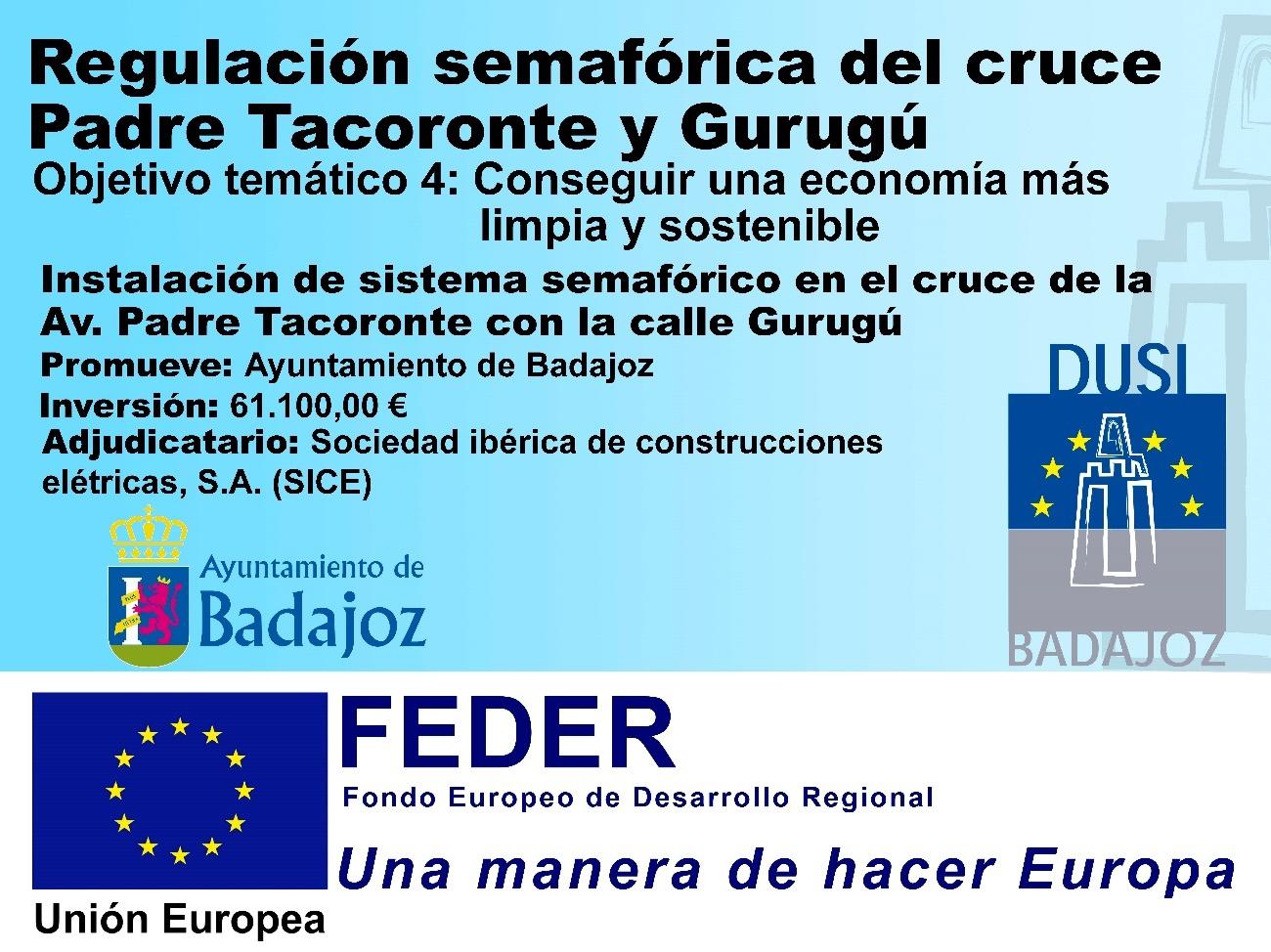 Regulación Semafórica del cruce Padre Tacoronte y Gurugú.