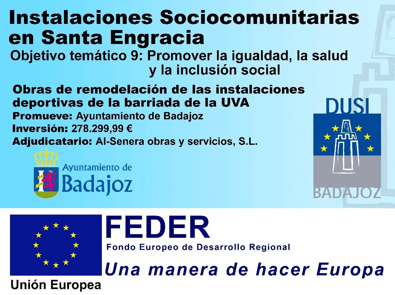 Instalaciones Sociocomunitarias en Santa Engracia.