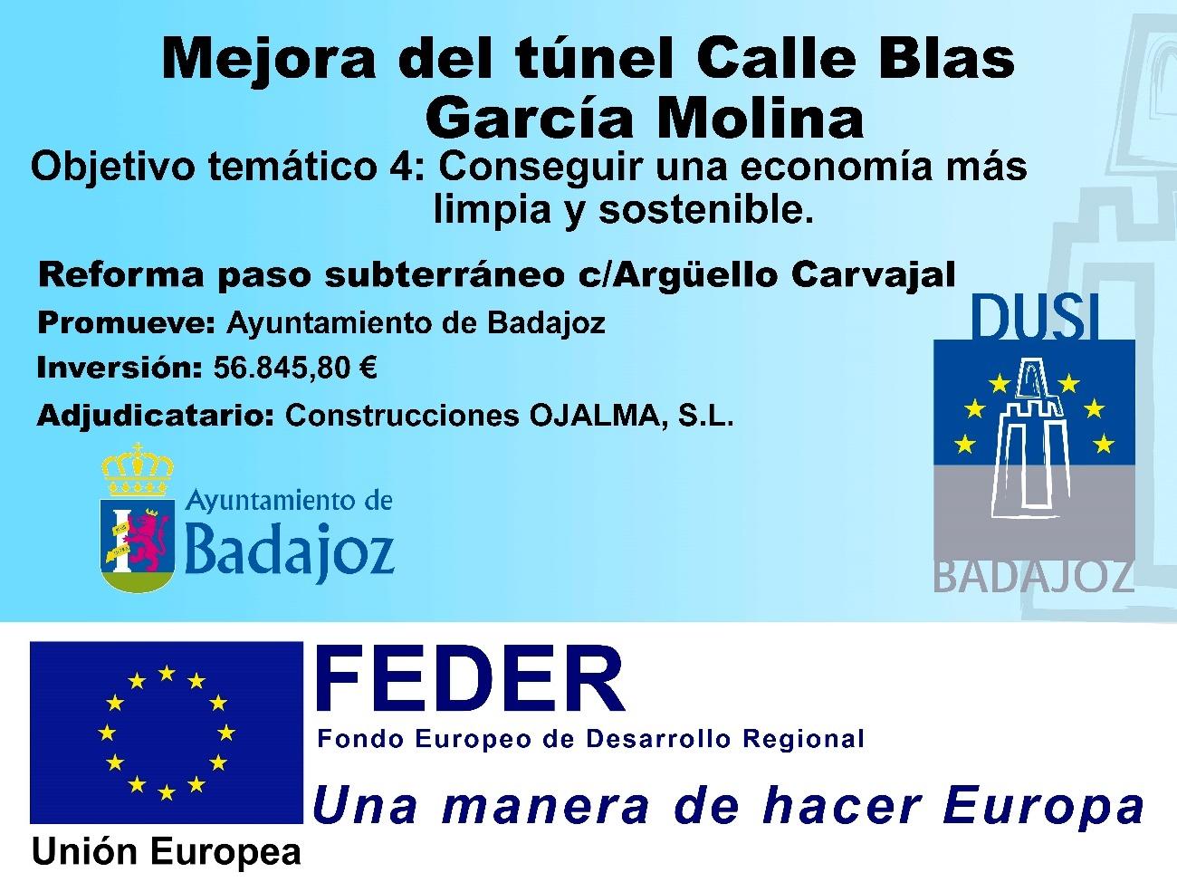 Mejora del túnel Calle Blas García Molina.