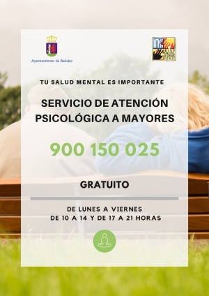 SERVICIO DE ATENCI�N PSICOL�GICA A MAYORES