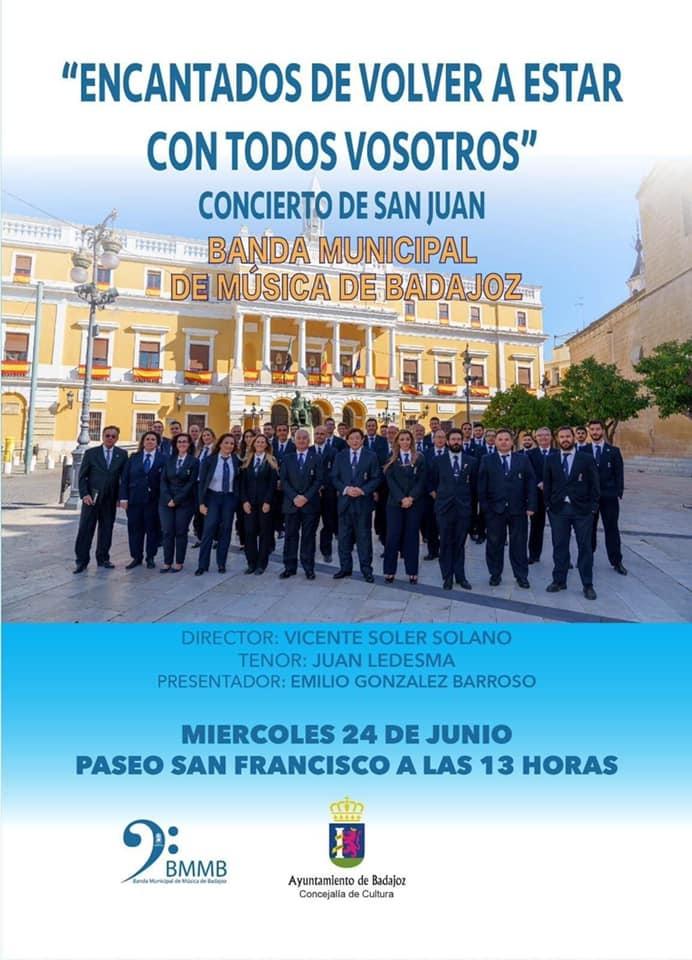 Concierto de San Juan de la Banda Municipal de M�sica de Badajoz