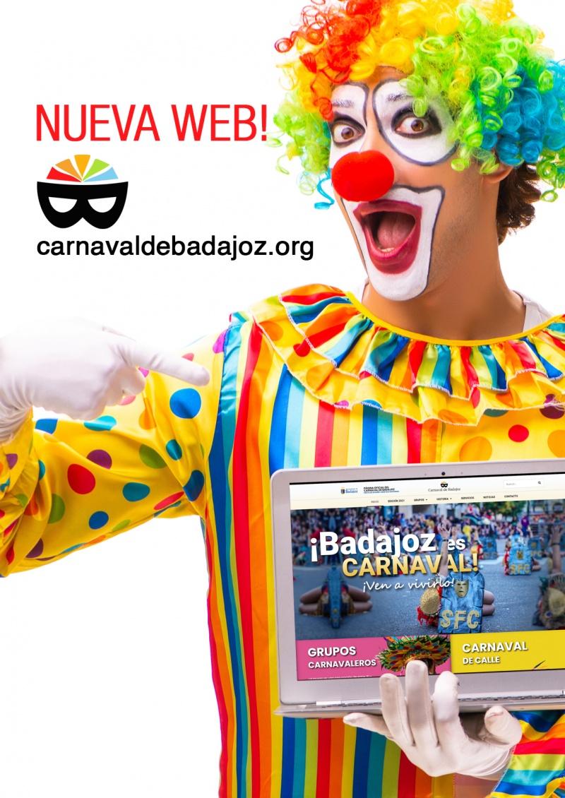 Nueva p�gina web oficial del Carnaval de Badajoz