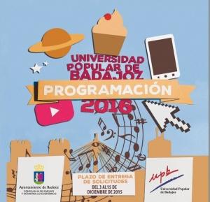 Cursos Universidad Popular de Badajoz. Programa 2016