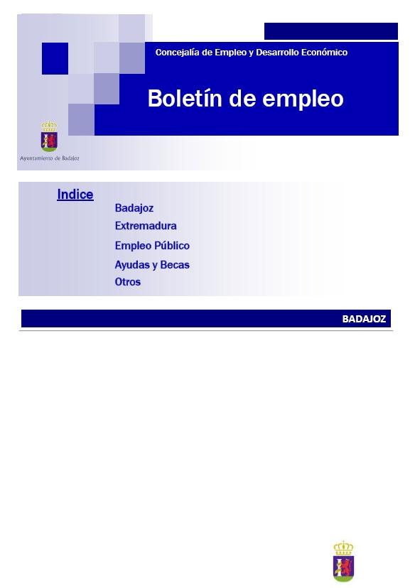 Último Boletín de Empleo Ayuntamiento de Badajoz