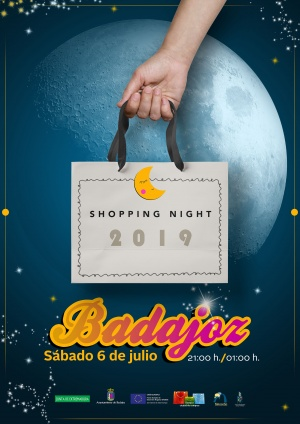 Cartel Shopping Night Badajoz 2019