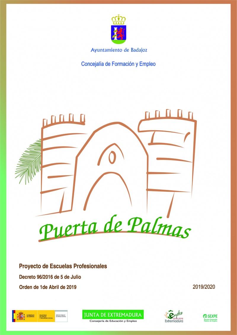 CARTEL ESCUELA PROFESIONAL PUERTA DE PALMAS