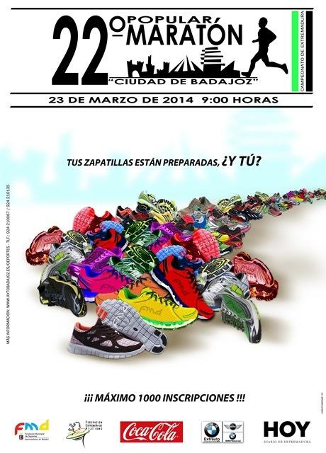 Cartel 22� Marat�n Popular Ciudad de Badajoz