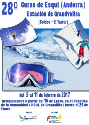 Cartel Curso de Esquí 2017