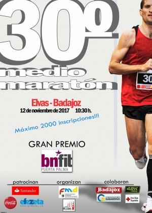 Cartel 30º Medio Maratón Elvas-Badajoz