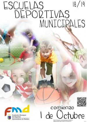 CARTEL ESCUELAS DEPORTIVAS MUNICIPALES 2018-19