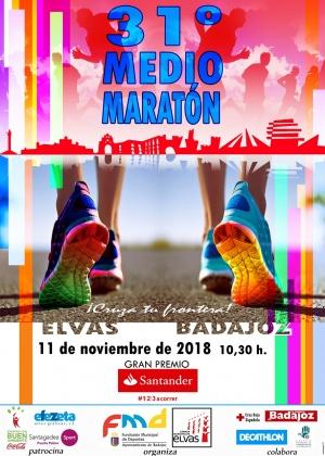 31º MEDIO MARATÓN ELVAS-BADAJOZ 2018
