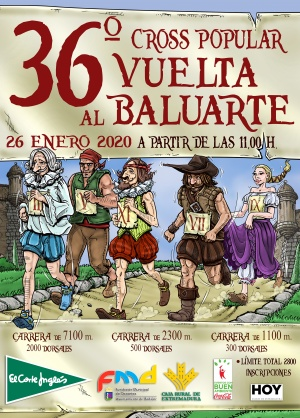 CARTEL 36º CROSS POPULAR VUELTA AL BALUARTE