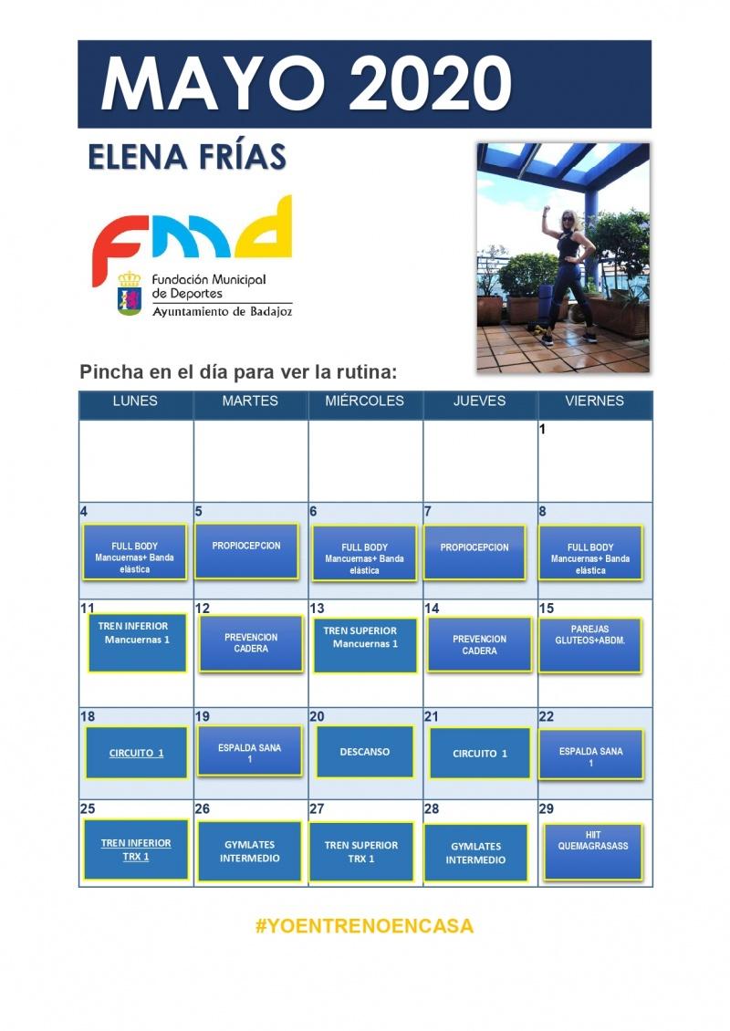 ELENA FRIAS - PROGRAMACI�N MES DE MAYO