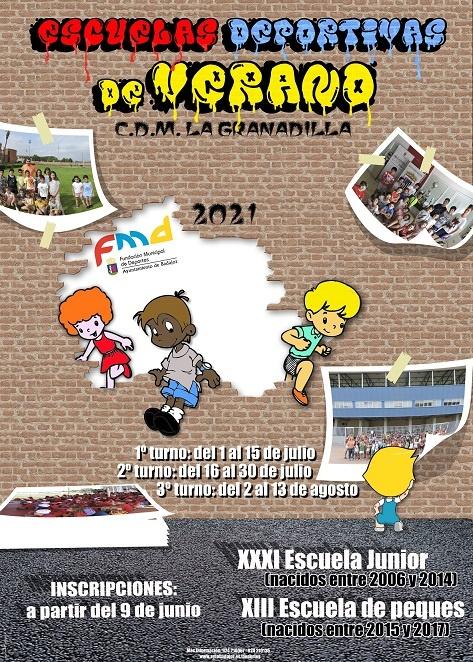 Cartel Escuelas Deportivas de verano 2021