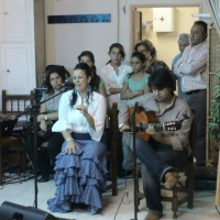 Actuación Antonio Domínguez. Baile y Esther Merino. VII Mes del Mayor
