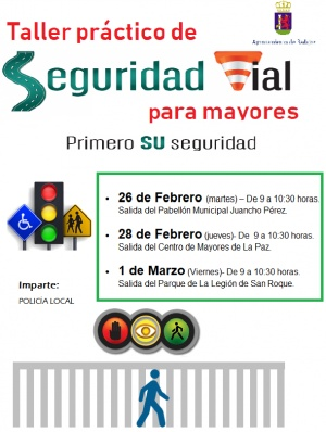 TALLER PRÁCTICO DE SEGURIDAD VIAL PARA MAYORES