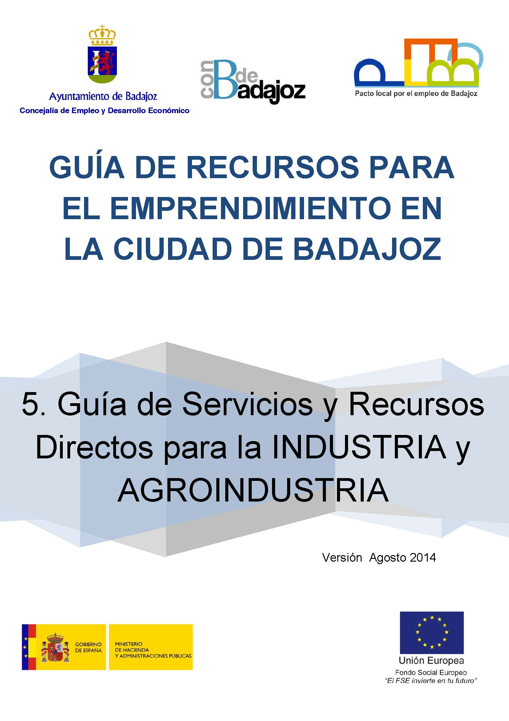 Guía de Recursos y Servicios directos para la Industria y Agroindustria en la ciudad de Badajoz