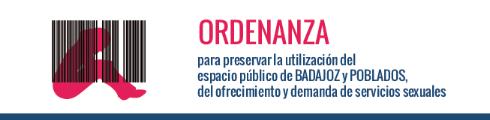 Ordenanzas para preservar la utilización del espacio público de BADAJOZ y POBLADOS, del ofrecimiento y demanda de servicios sexuales